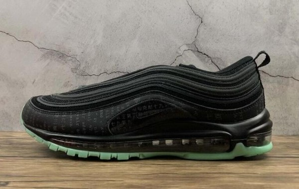 Nike Air Max 97 Black Green Glow Release for Black Friday
