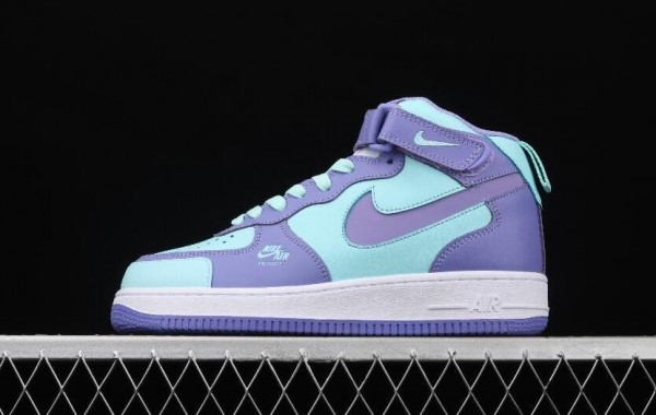 New Arrive Nike Air Force 1 Utility Purple Green Lake White for Sale