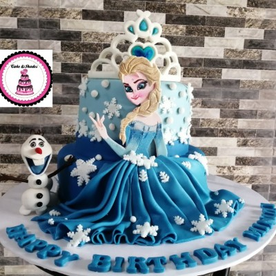 Frozen theamed birthday cake /Elsa cake Profile Picture