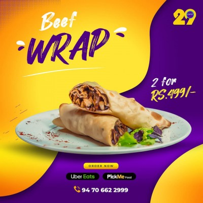 cafe 29 Beef wrap Profile Picture