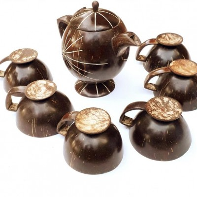 Coconut Shel Tea Cup  Set Profile Picture