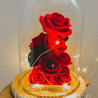 beauty and the beast rose Jar Bottle Profile Picture