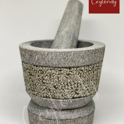 -Motar and Pestle Black Stone Profile Picture