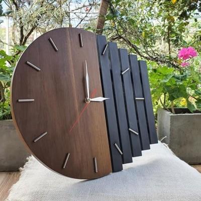 Teak Wooden Clock Profile Picture