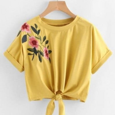 Plain embroidery crop top Profile Picture