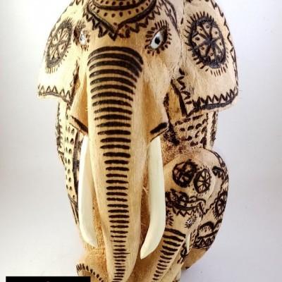 Coconut Husk Elephant Statue Profile Picture