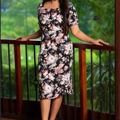 Square Neck printed Dress Profile Picture