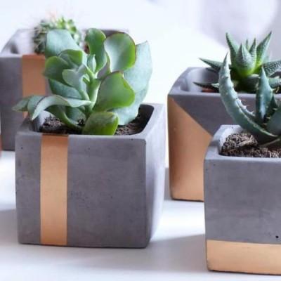 Copper cement planters Profile Picture
