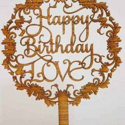Wooden cake toppers Profile Picture