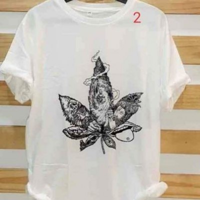 White Printed T - shirts Profile Picture